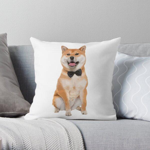 cute shiba inu doge throw pillow by tmagician redbubble