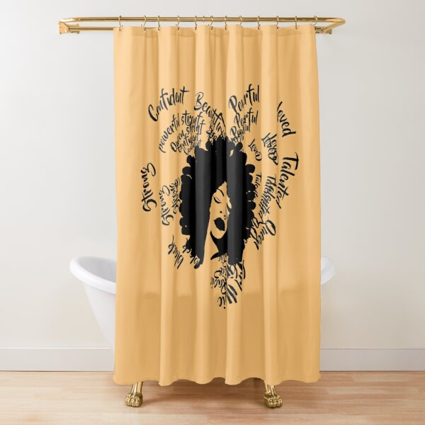 black woman shower curtains redbubble