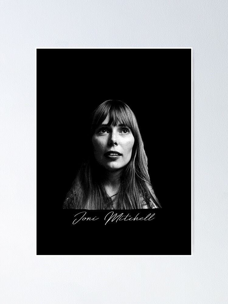 joni mitchell portrait poster by oceanroad redbubble