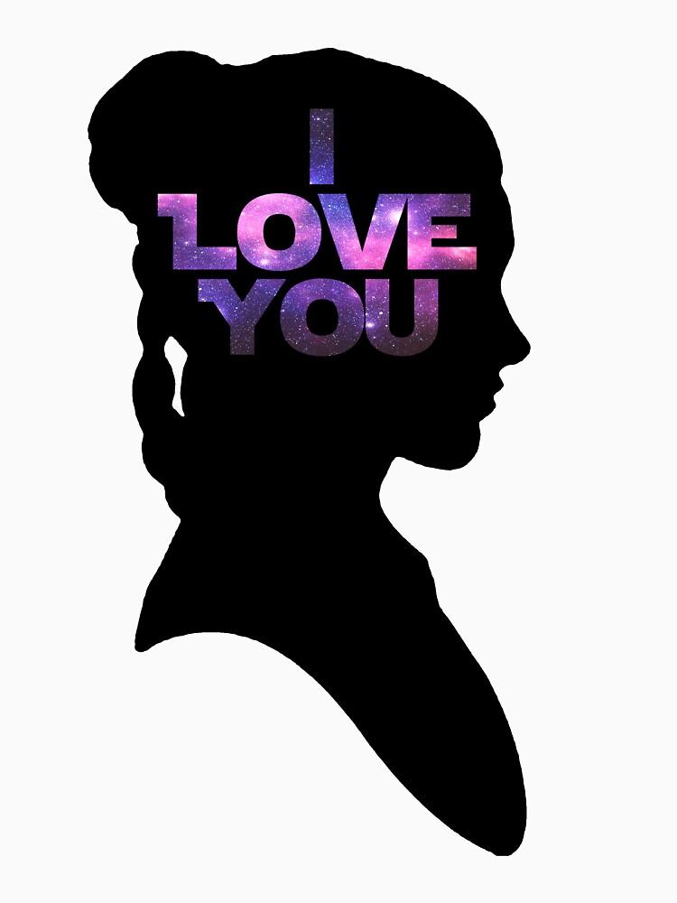 Download Star Wars Leia 'I Love You' Black Silhouette Couple Tee ...