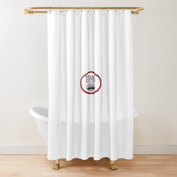 titanic 1997 movie logo shower curtain by baileymckinnon redbubble