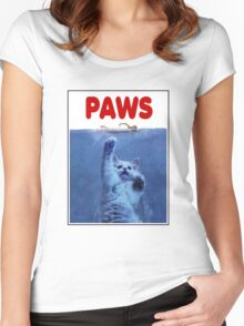 PAWS! JAWS Parody When Cats Attack Shirts