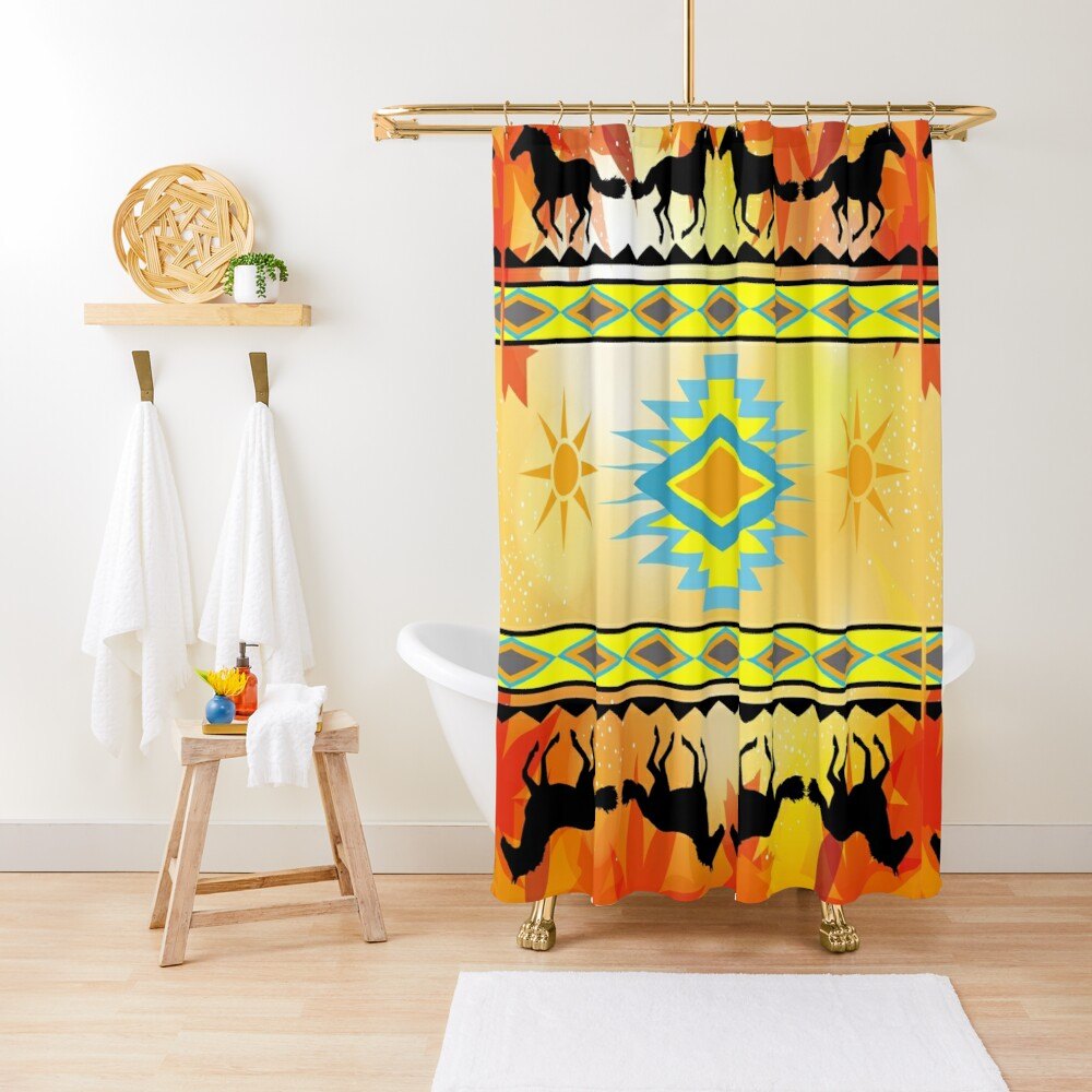 native autumn shower curtain by johndsmith redbubble
