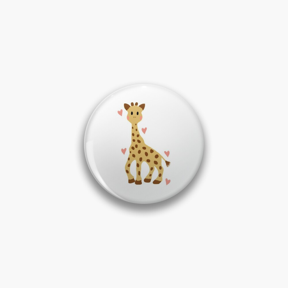 sophie the giraffe sticker pin by brookehend redbubble