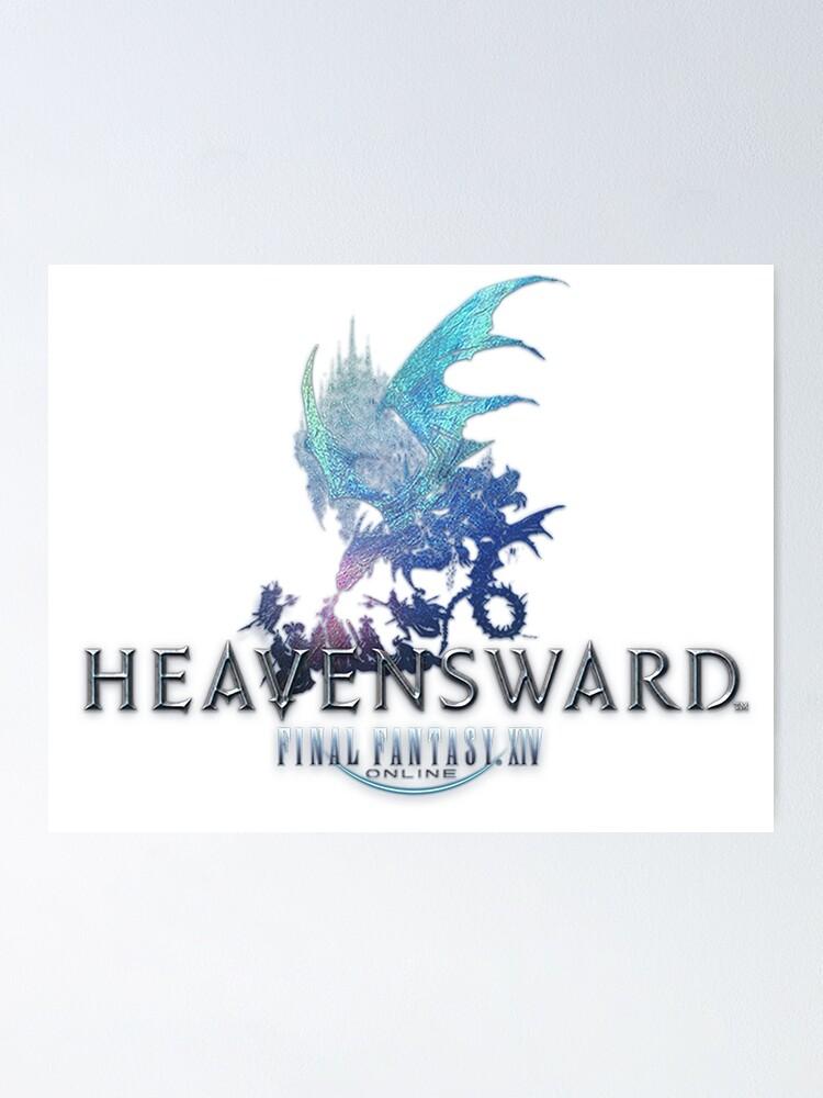 final fantasy xiv heavensward logo poster von rhodry redbubble