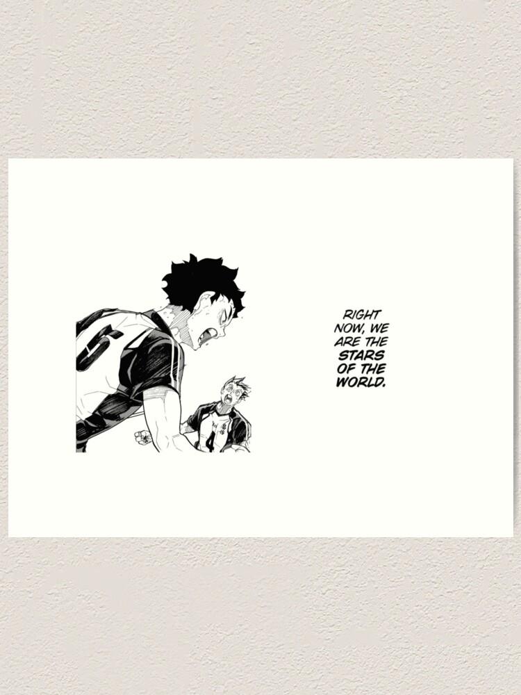 akaashi und bokuto manga panel kunstdruck von kor1 redbubble