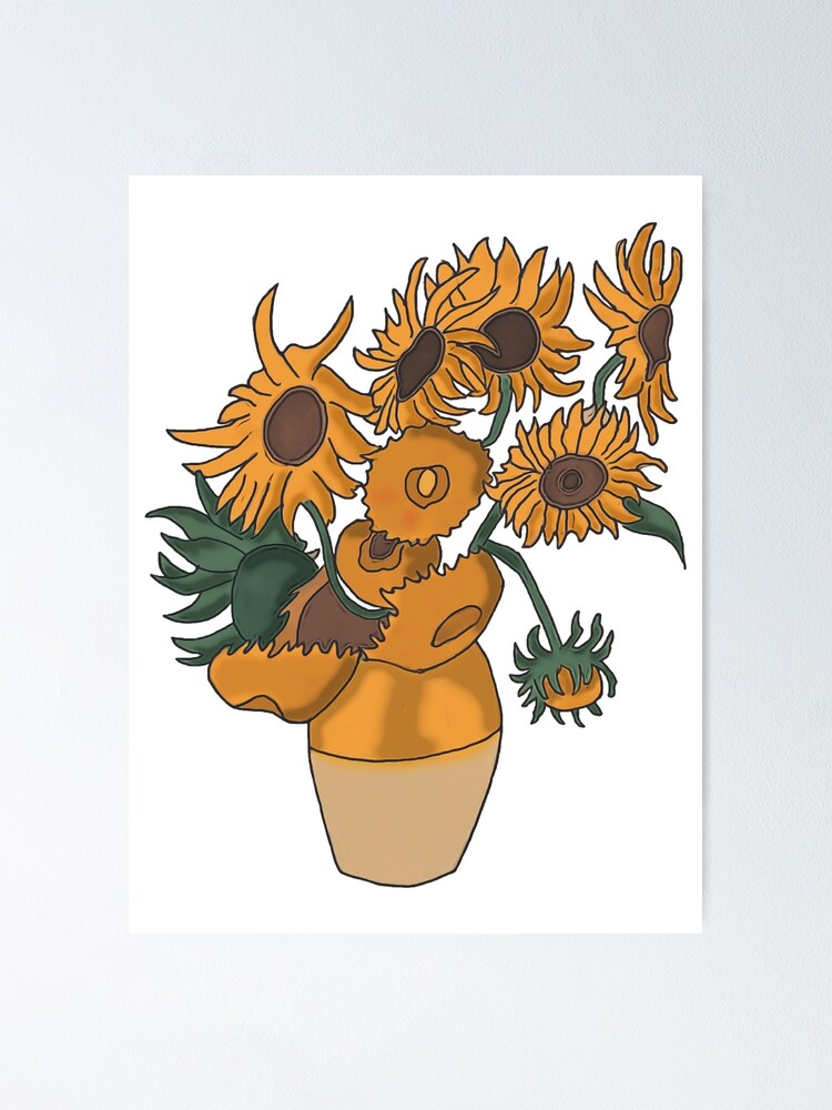 vincent van gogh sunflowers poster by jamhard16 redbubble