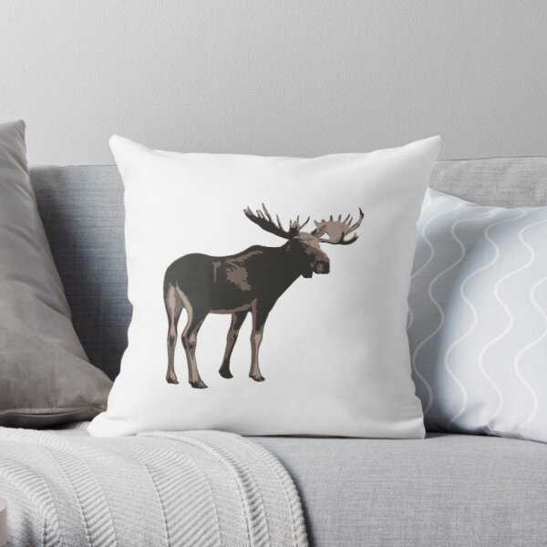 moose throw pillow by joeredbubble redbubble