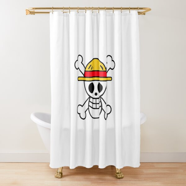 one piece shower curtains redbubble