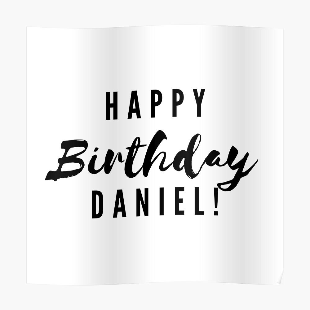 Happy Birthday Daniel Sticker By Creativetext Redbubble