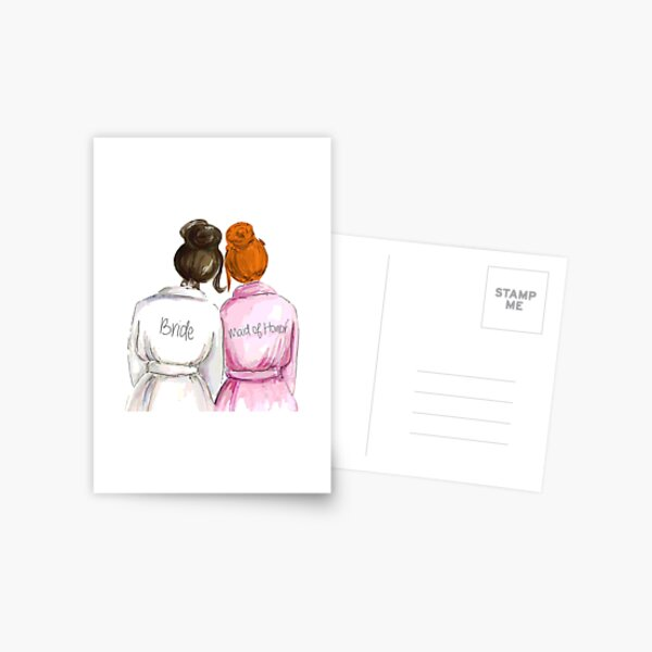 Wedding Gifts Bridal Shower Gifts Best Cute Engagement Gift For Her Bride Maid Of Honor Women Best Friend Or Sister Bride And Maid Of Honor Postcard By Premiertreats Redbubble
