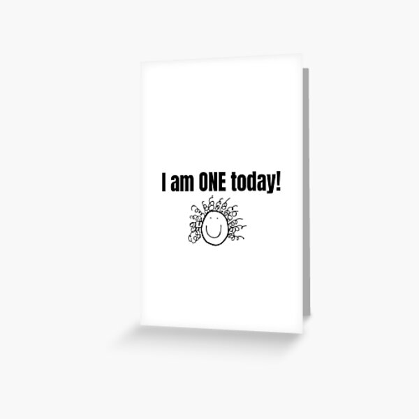 1 Year Old Greeting Cards Redbubble