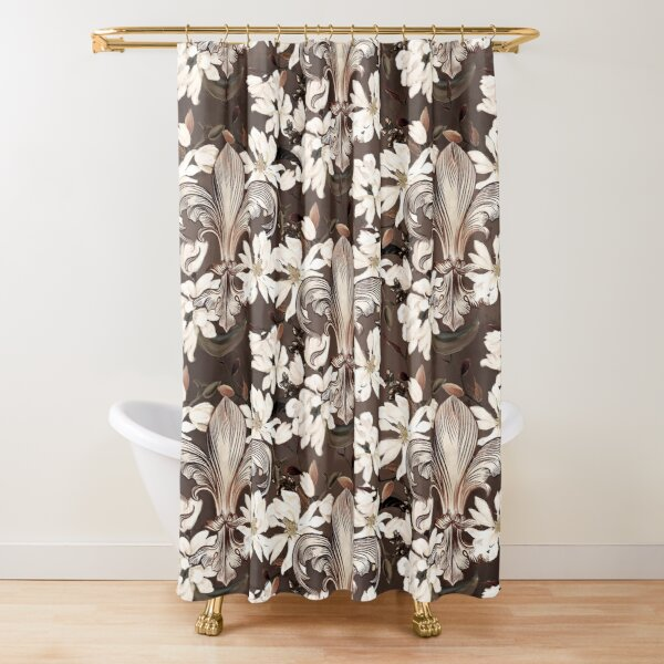 lily magnolia shower curtains redbubble