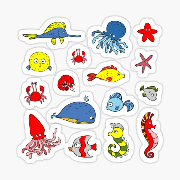 Fish Sea Life Collection Sticker