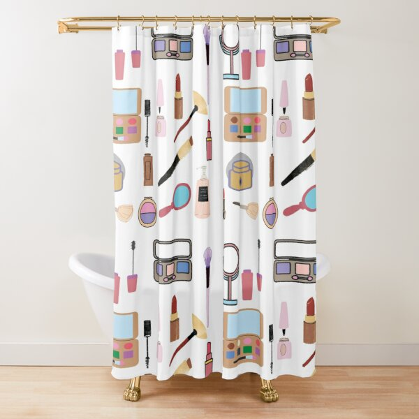 make up shower curtains redbubble