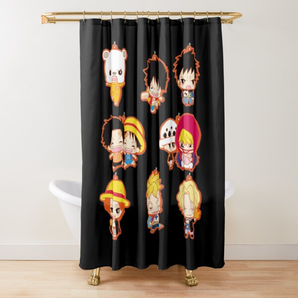 one piece symbol shower curtains redbubble