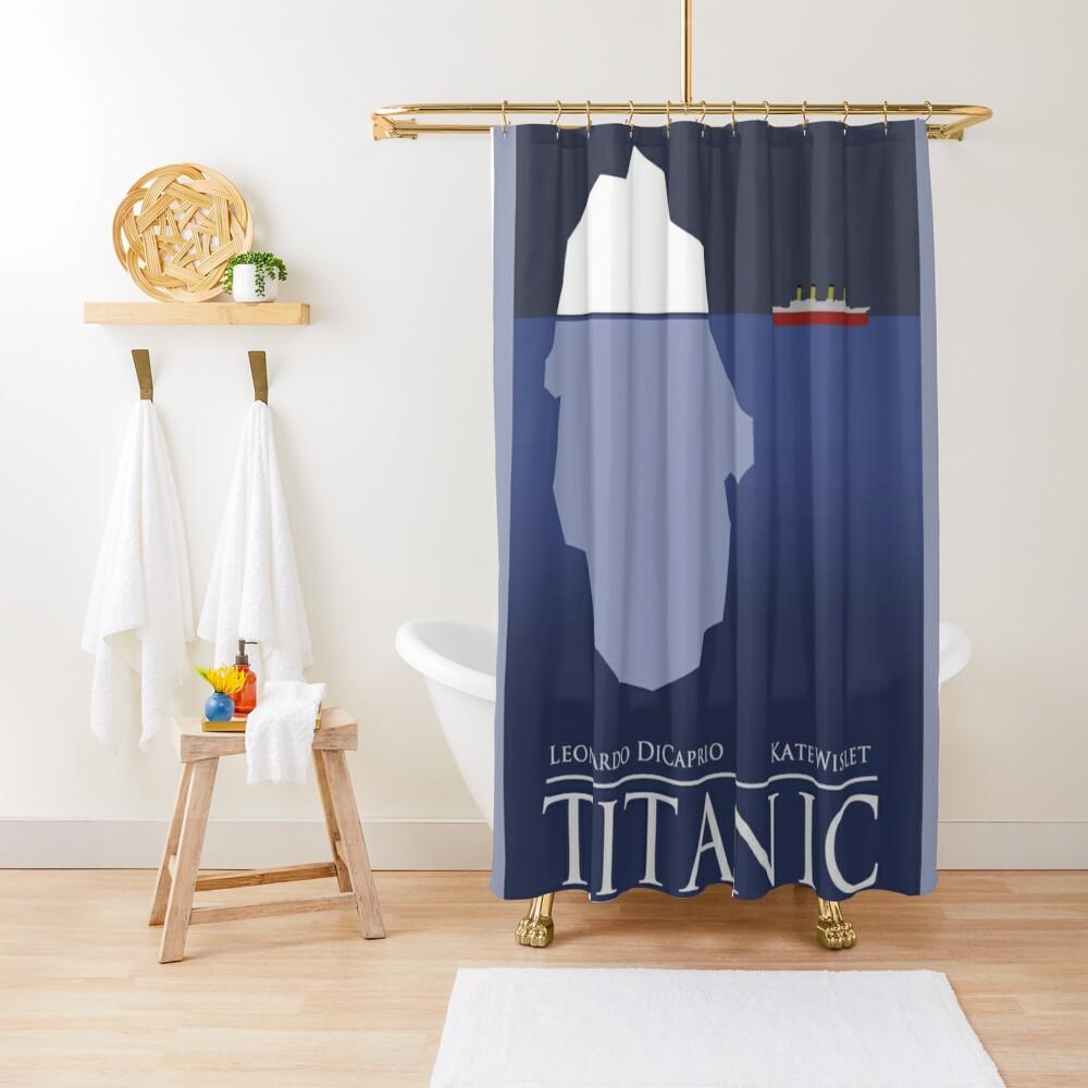 titanic shower curtain by bobeacm redbubble