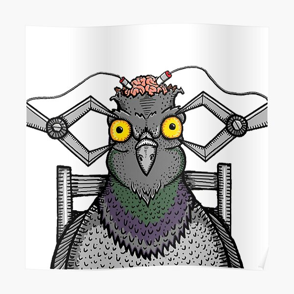 melting lights pigeons playing ping pong poster by tvorac redbubble