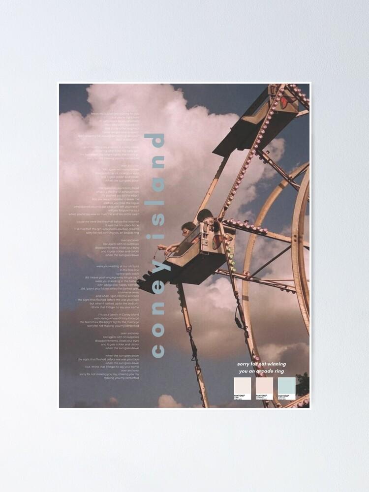 coney island taylor swift poster immer mehr album poster von jnnavas redbubble