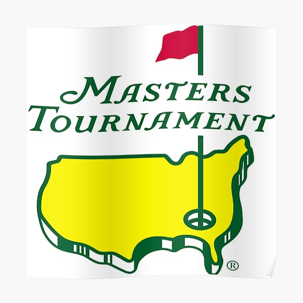 masters golf pga posters redbubble