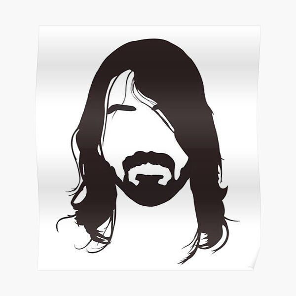 dave grohl poster by aweinspiredtees redbubble
