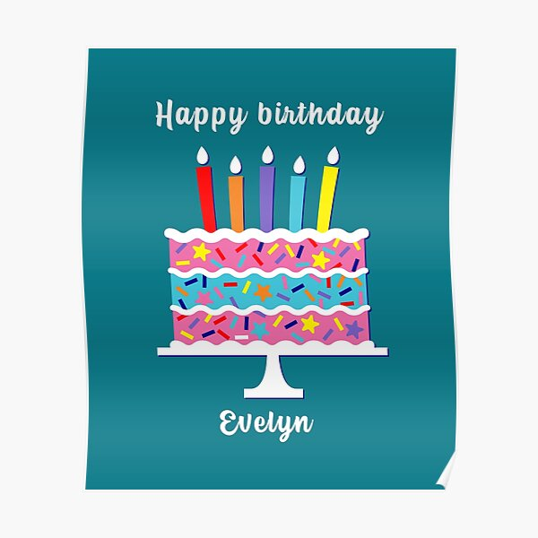Happy Birthday Evelyn Posters Redbubble