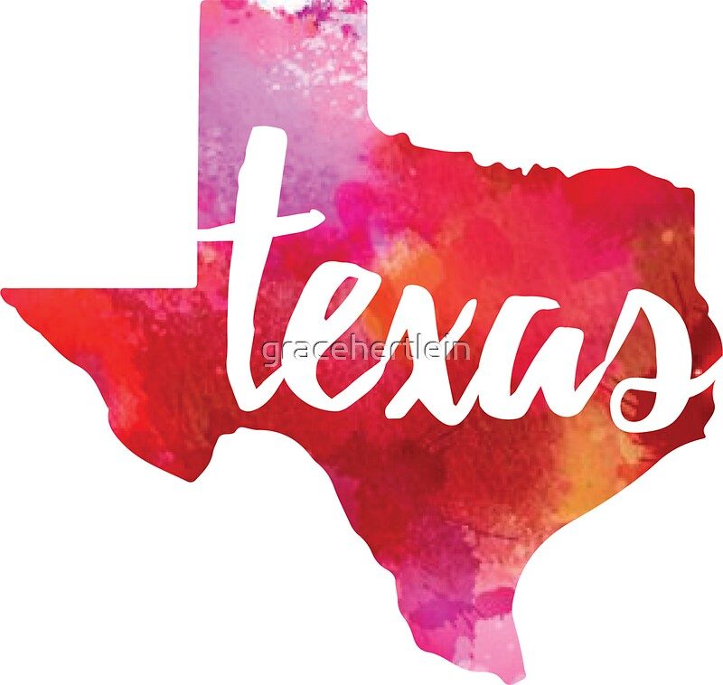 Texas Watercolor Stickers By Gracehertlein Redbubble