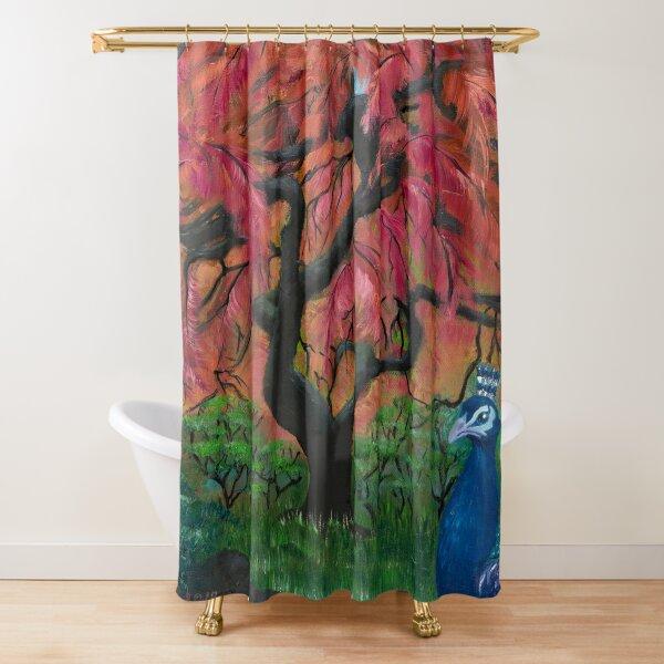secret garden shower curtains redbubble