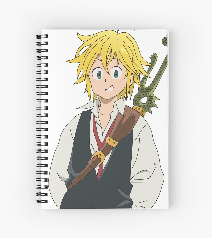 Meliodas Anime Seven Deadly Sins Spiral Notebook By Toradorataiga