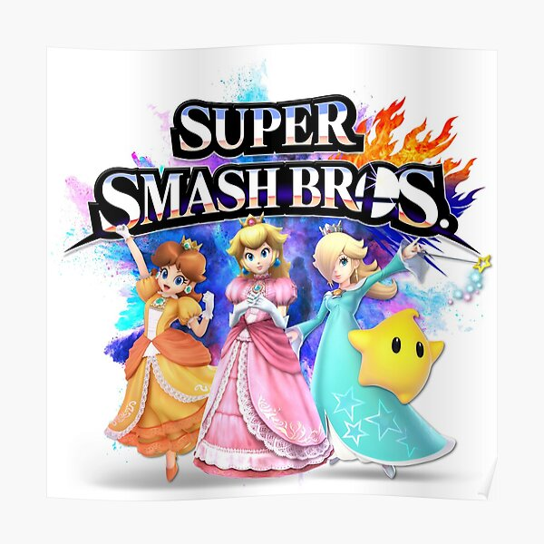poster super smash bros redbubble