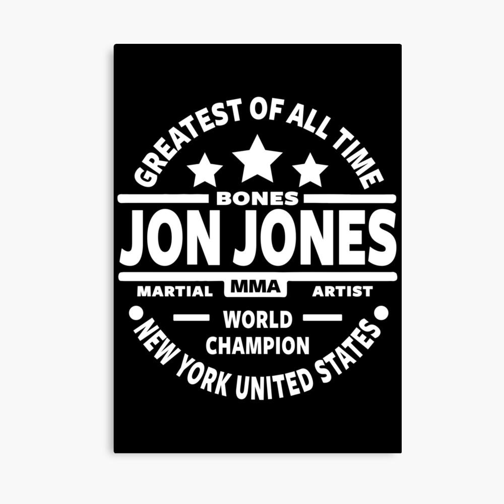 jon bones jones poster by mmazone redbubble