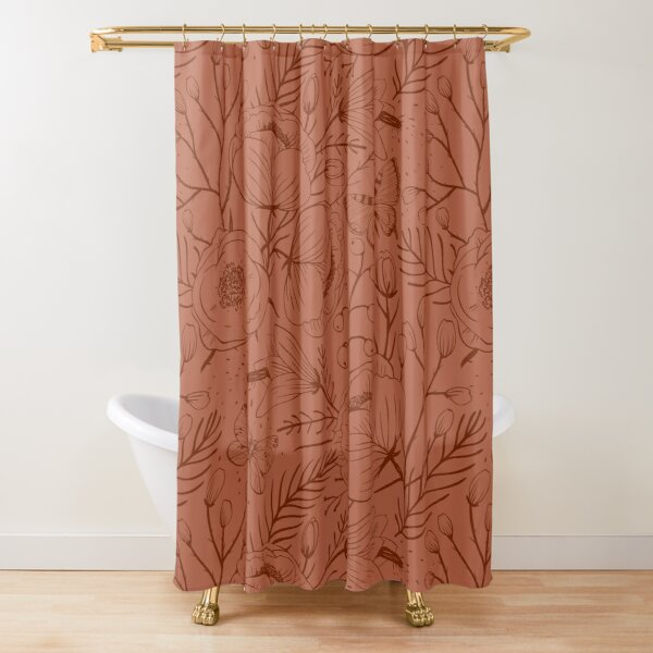 colors of rust shower curtains redbubble