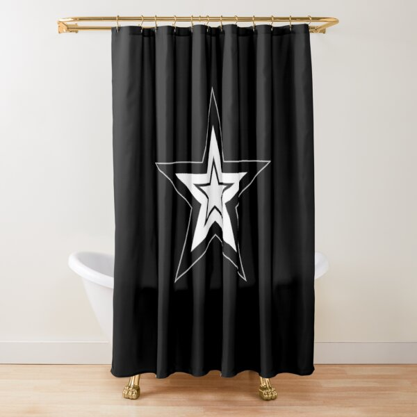 white star shower curtains redbubble
