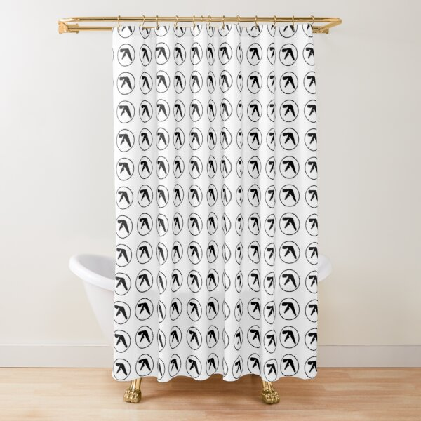 aphex twin shower curtains redbubble