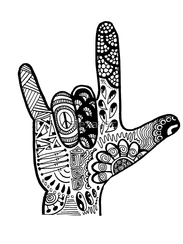 """Download """"ASL Love Sign Language Hand """" Photographic Prints by ..."""