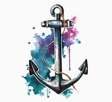 Nautical Watercolor Anchor T-Shirts & Hoodies