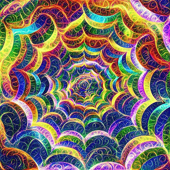 Spider web #DeepDream B