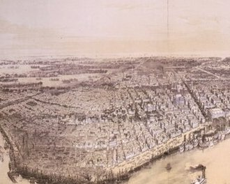 HD Decor Images » Vintage Pictorial Map of New Orleans  1851    Canvas Prints by     Vintage Pictorial Map of New Orleans  1851