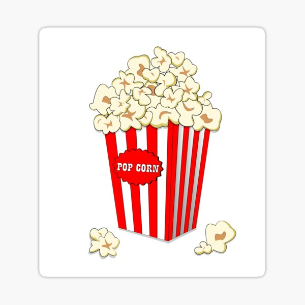 Popcorn Time Stickers Redbubble