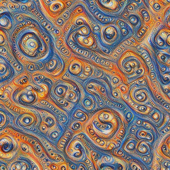 Blue Orange #DeepDream