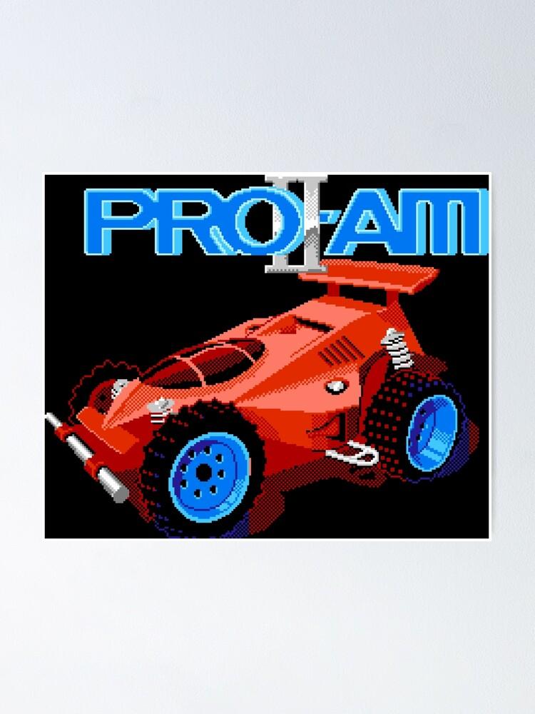 R C Pro Am Ii Nes Title Screen Poster By Winscometjump Redbubble