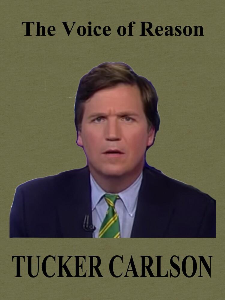 """Tucker Carlson #1"" T-shirt by finlaysonart   Redbubble"