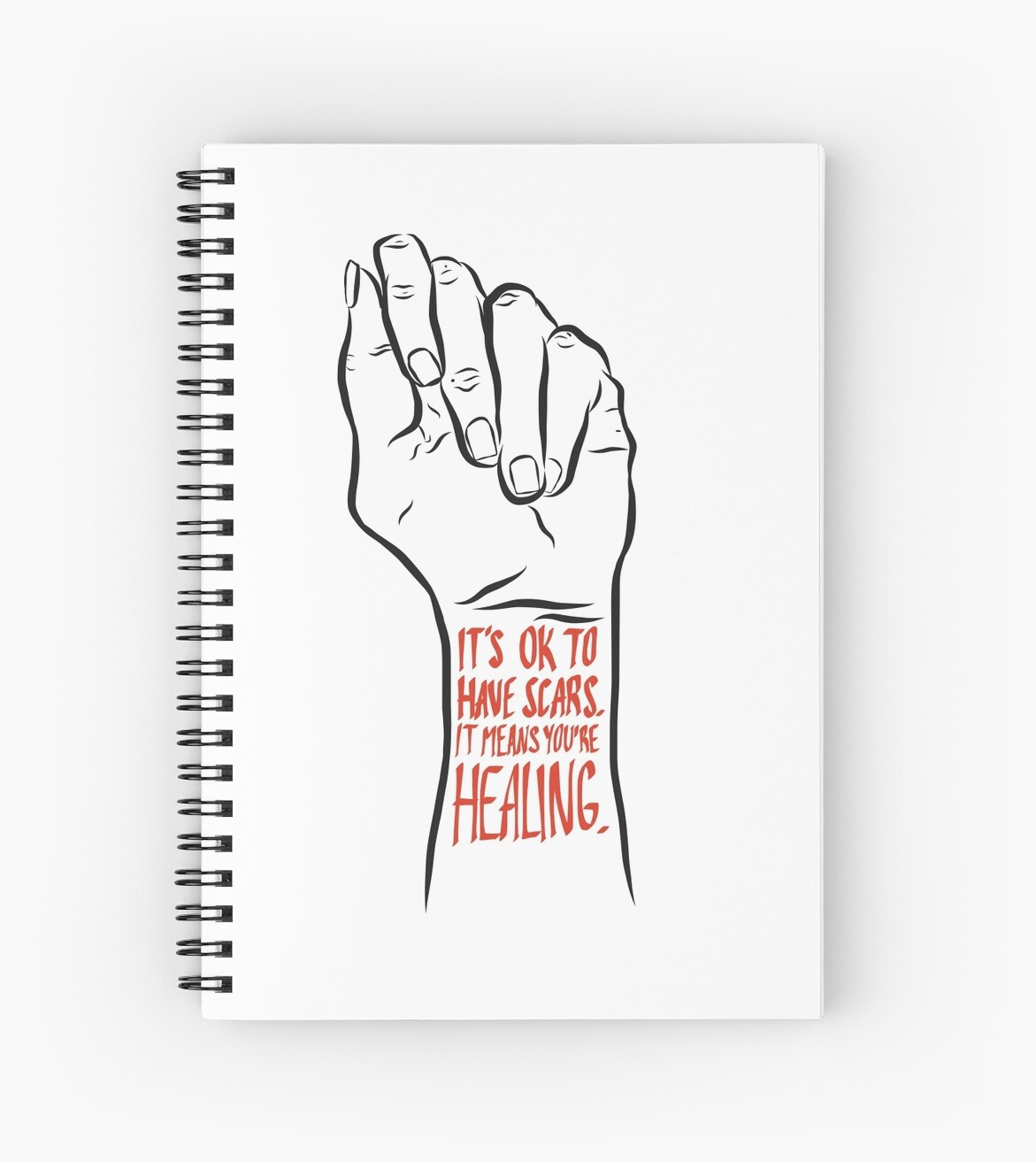 Self Harm Recovery Positivity Spiral Notebook By