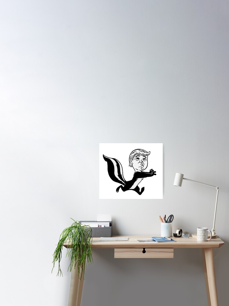 Trumpy Le Pew Poster By Loudoundesignco Redbubble
