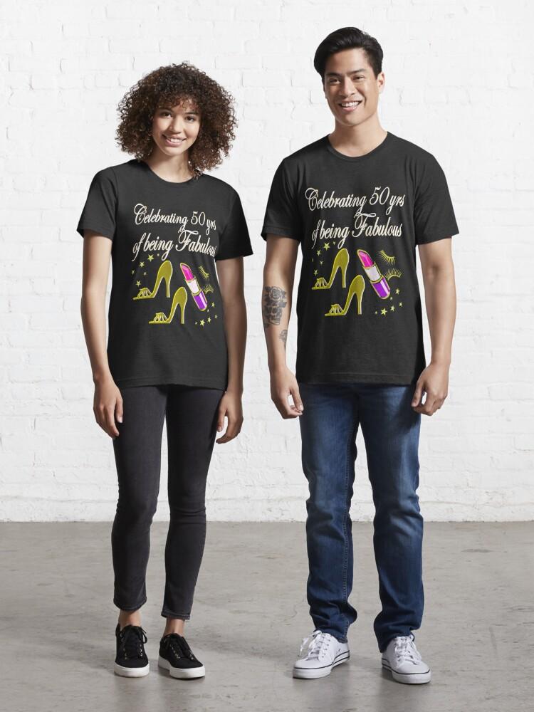 Gorgeous Gold 50th Birthday Design T Shirt By Jlporiginals Redbubble