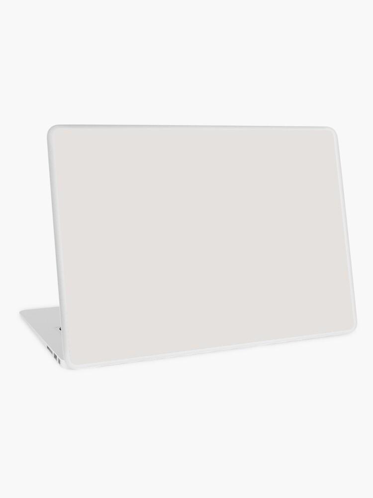 skin adhesive d ordinateur gris platine couleur unie par patternplaten redbubble