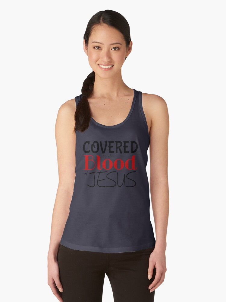 COVERED BY BLOOD OF JESUS Women's Tank Tops