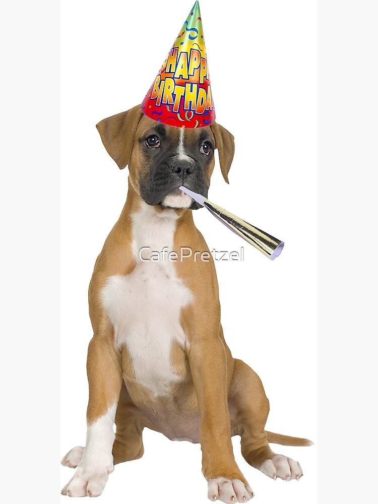 Boxer Birthday Greeting Card By Cafepretzel Redbubble