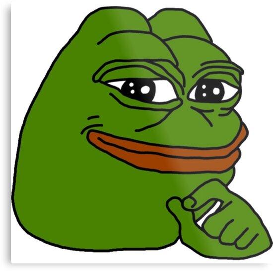 Pepe The Frog Happy Metal Print By Jarudewoodstorm Redbubble