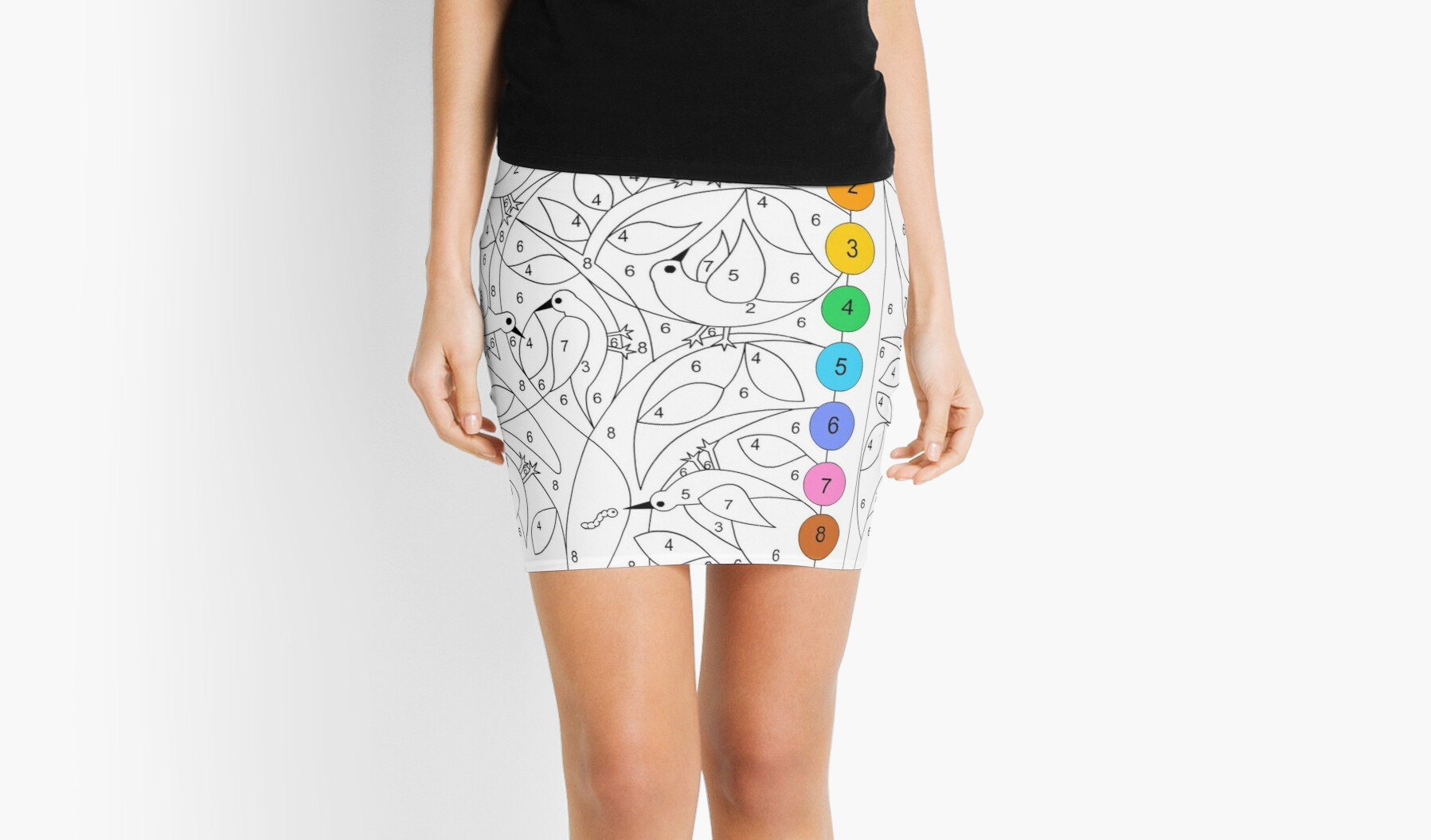 Color By Number Mini Skirts By Nicole Florian